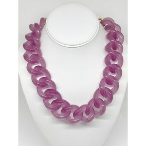 J. Crew Lilac Resin Large Link Necklace